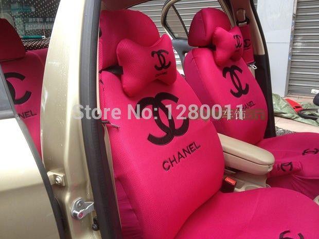 pas cher rose pink pas bonjour si ge d 39 auto couvre kitty accessoires pour voiture avec pauli re. Black Bedroom Furniture Sets. Home Design Ideas