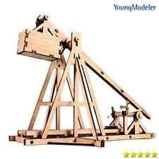 Young Modeler Desktop Wooden Model Kit Trebuchet New