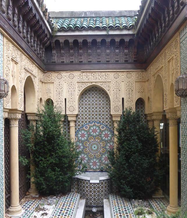 fondation maison du maroc jardin andalou cit internationale universitaire de paris. Black Bedroom Furniture Sets. Home Design Ideas