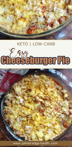 An easy cheeseburger pie is perfect for a lowstress dinner any day of the week flavored with simple everyday ingredients and suitable for the whole family