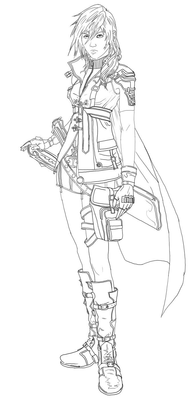 fantasy coloring pages Final fantasy coloring pages