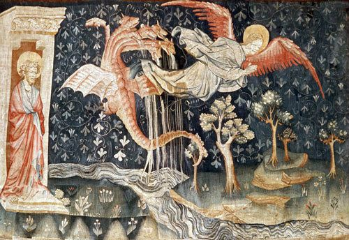 Angers Apocalypse Tapestry 1377 82 Commissioned By Louis I Duc D Anjou Designed By Jean Bondol Chateau D Angers France Arazzi Apocalisse Miniature