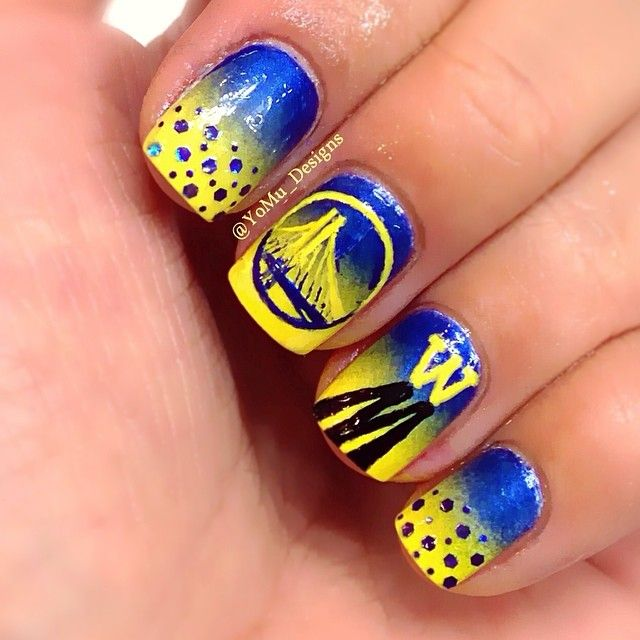 (via yomu_designs - Instagram). Nail Art ... - Basketball Nail Art By Simply Rins Nail Art Basketball Sports. Cute