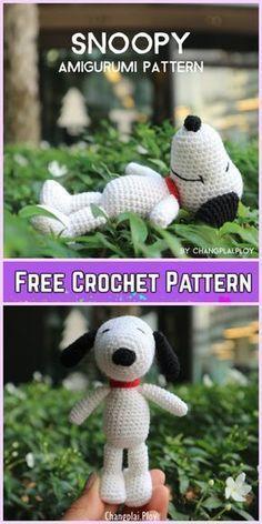 Crochet Snoopy Plush Toys Amigurumi Pattern Free & Paid