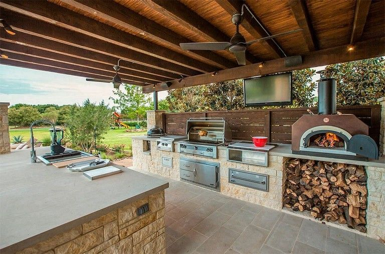 23 Inspiring Diy Open Kitchen Design In The Backyard Equipped A Grilling Station In 2020 Outdoor Kitchen Design Outdoor Kitchen Outdoor Kitchen Decor