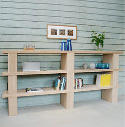 Buy Walnut and Oak Block Shelving System Bookcases in Newbury United  Kingdom  from Berrydesign, Company in catalog Allbiz!