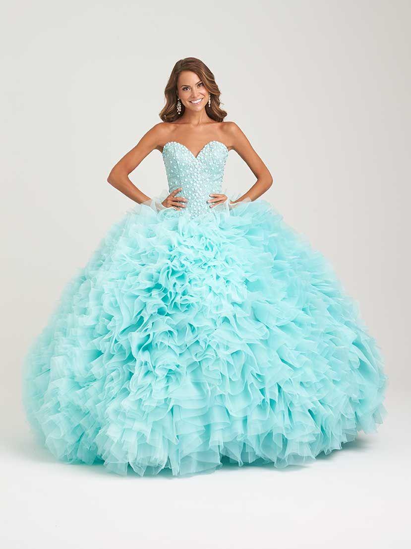 Vestido de 15 años azul tipo princesa - Alquiler de vestidos de 15 ...