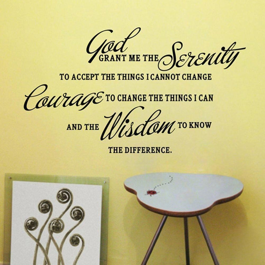 Serenity Prayer Vinyl Wall Decal – The Faithful Home | Wall Decals ...