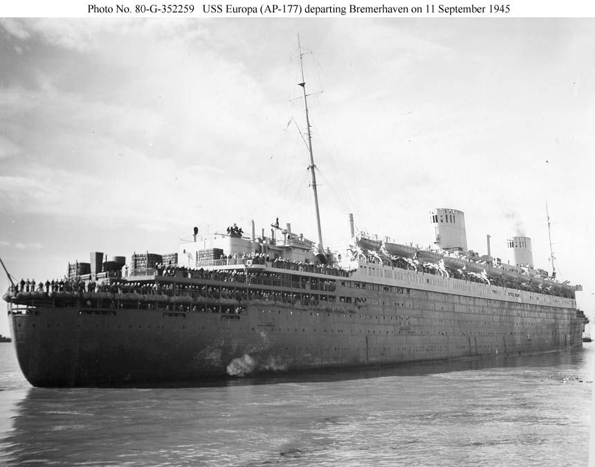 Europa as a US troopship