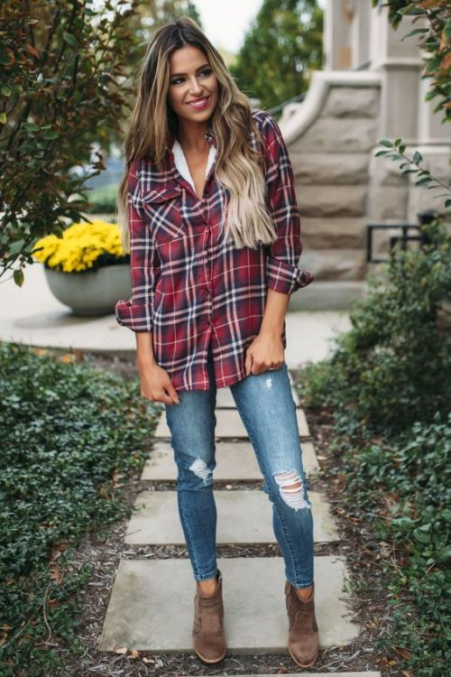 1ef5d65524d How to wear flannel shirts – Just Trendy Girls | fashion | How to ...