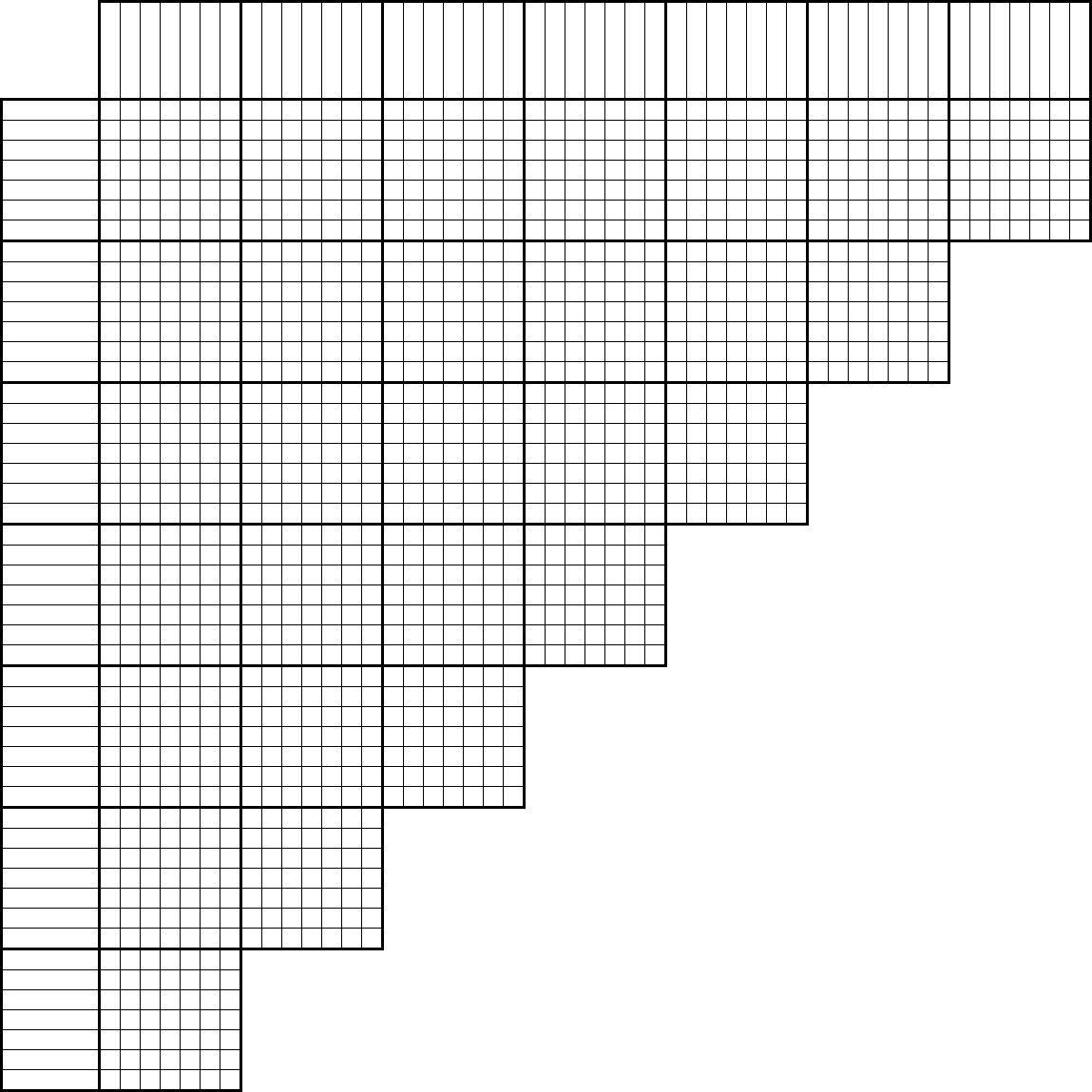 Printable Logic Puzzle Grid Blank In