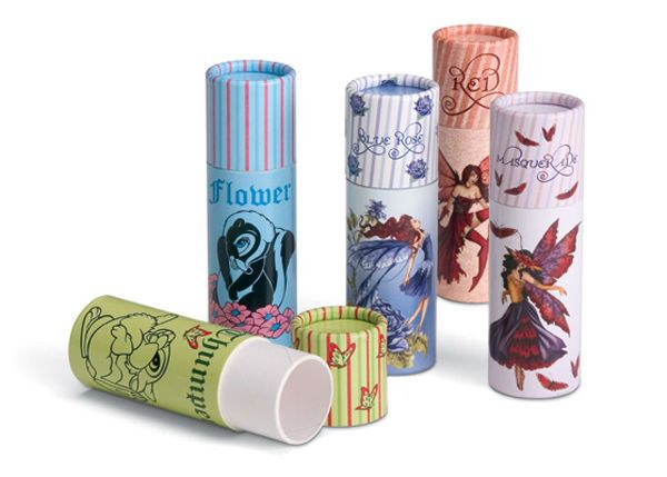rolled edge cardboard packaging paper tube for lip balm