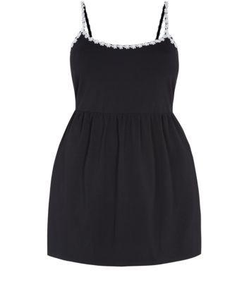 Black Daisy Trim Sun Dress