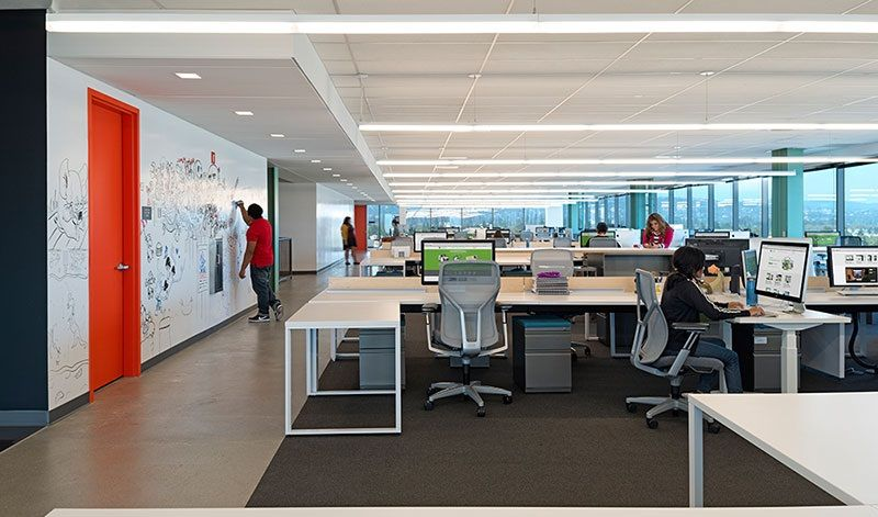 Office Designs For Tech Companies Silicon Valley Open