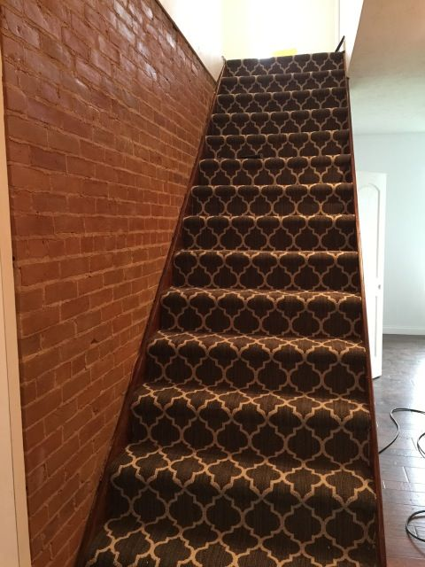 Carpet Style: Taza in Chateau on this staircase!