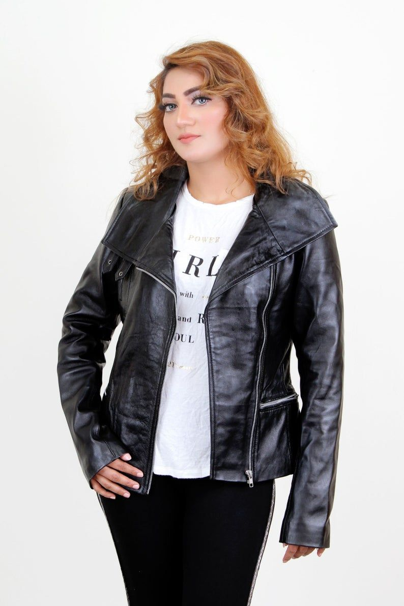 Jackherald Women Fenc Prime Leather Etsy Black Biker Jacket Fashion Trending Outfits [ 1191 x 794 Pixel ]