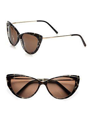 82cb36d424 Yves Saint Laurent - Petite Plastic Cateye Sunglasses - Saks.com ...