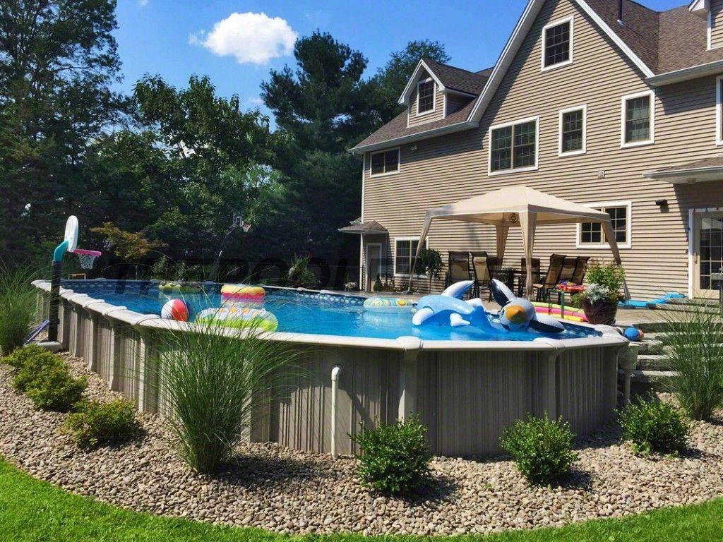 Ideas Above Ground Pool Landscaping Pool Landscape Design