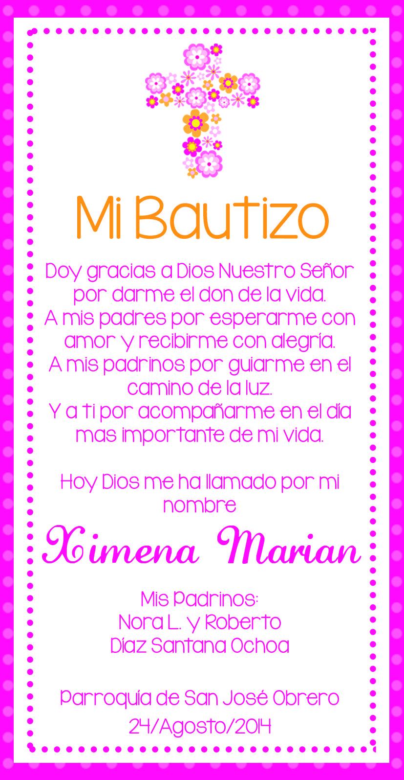 Oracion invitaciones baby shower pinterest oraci n for Poemas para bautizo