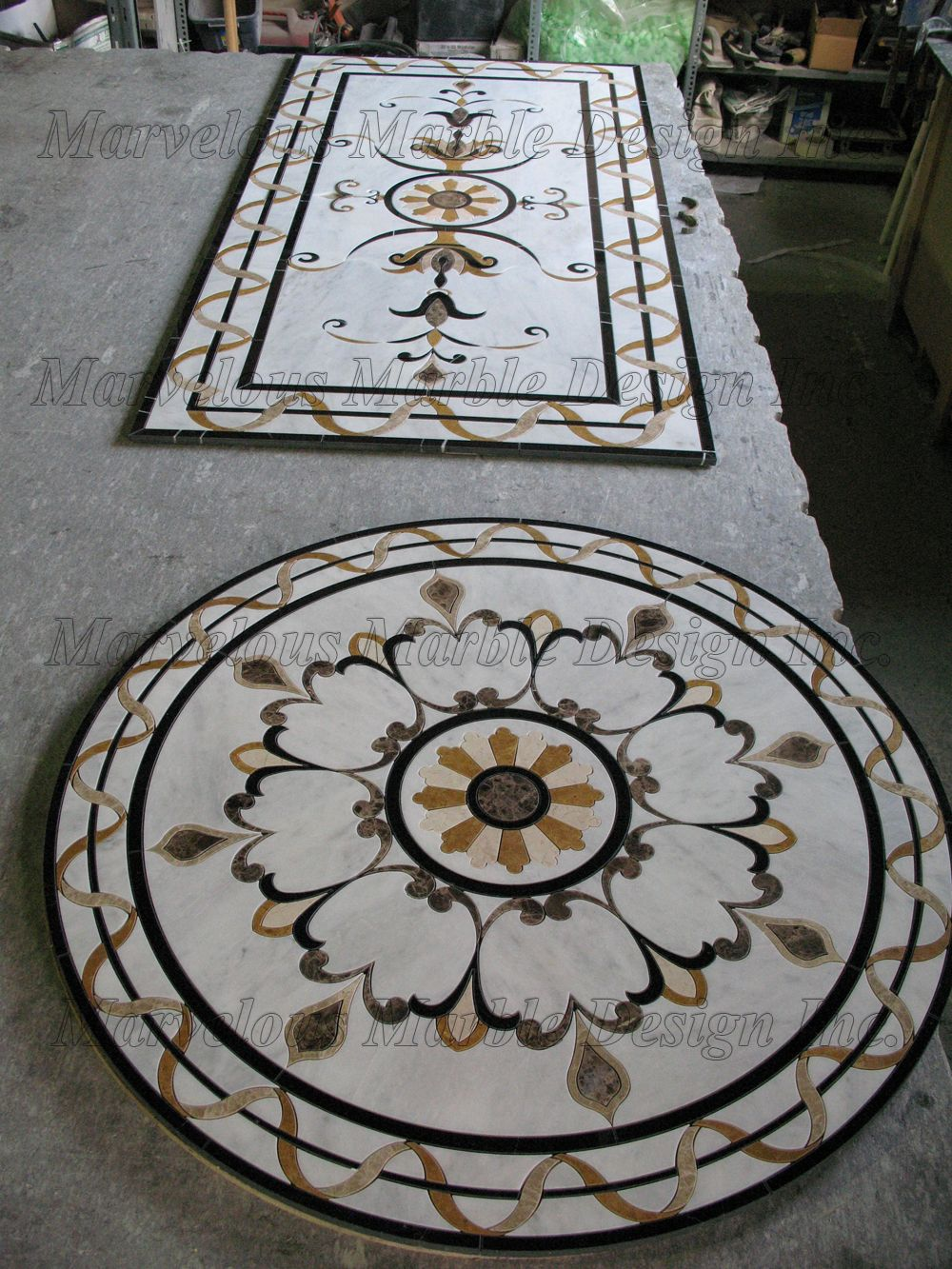 Round marble medallions floors pinterest marbles rounding marble flooring design cutting by cnc water jet machine for luxury new york home by marvelous marble design inc doublecrazyfo Gallery