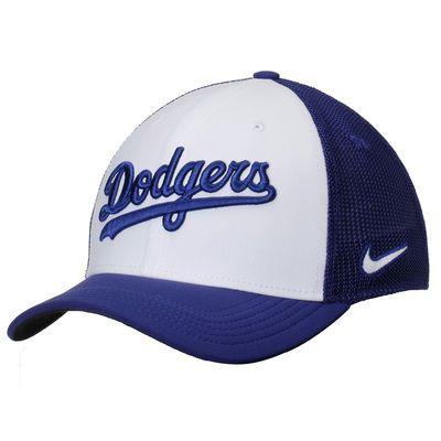 5ce285b00a3b7 Los Angeles Dodgers Nike Vapor Performance Swoosh Flex Hat - White Royal