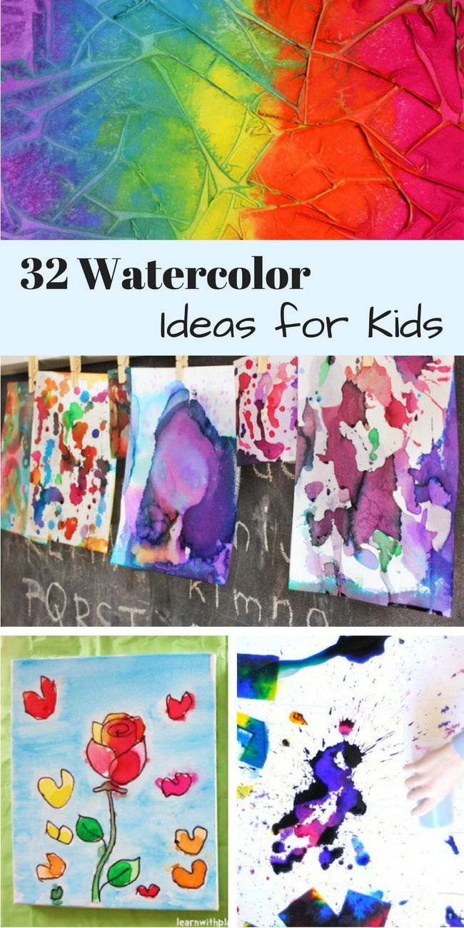 32 Easy Watercolor Painting Ideas Kids Watercolor Art Videos