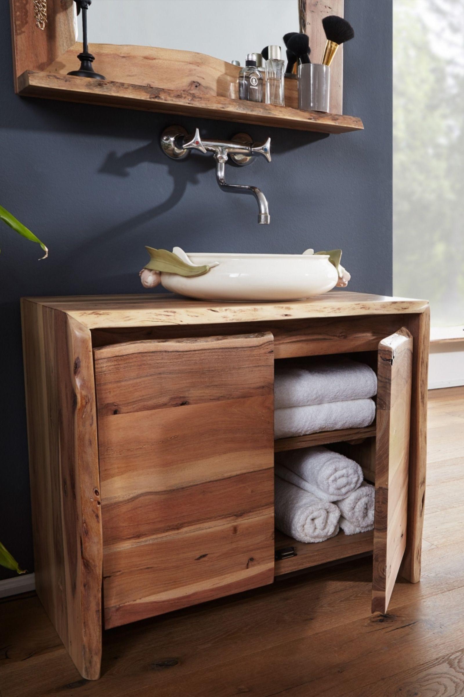 Baumkantenmobel Live Edge Versandfrei I Echtholz Mobel Mobel Wohnzimmer Waschbeckenunterschrank