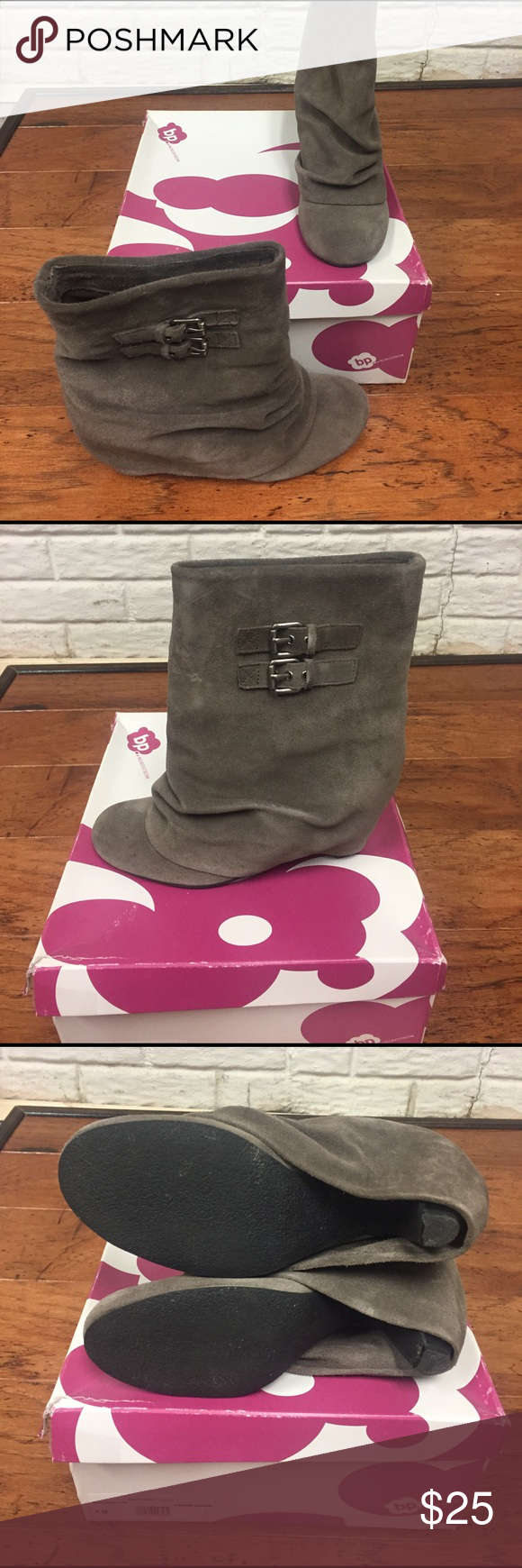 Booties Taupe suede booties bp Shoes Ankle Boots & Booties