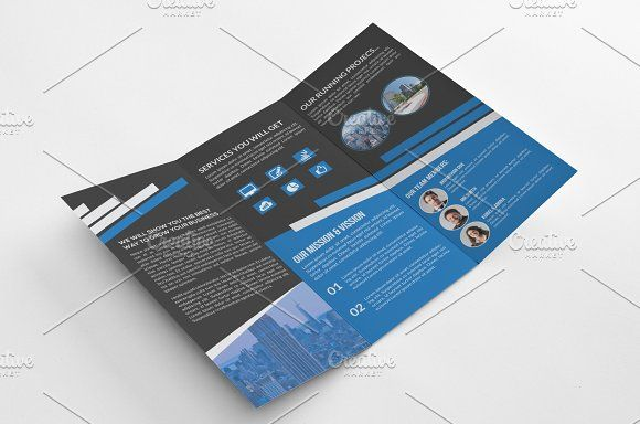 tri fold multipurpose brochure by cristal pioneer on creativemarket