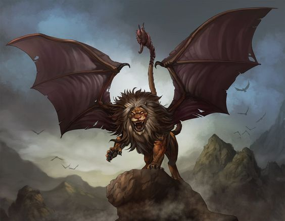 Art Mythical Creatures Scariest Creatures Mythical Animals