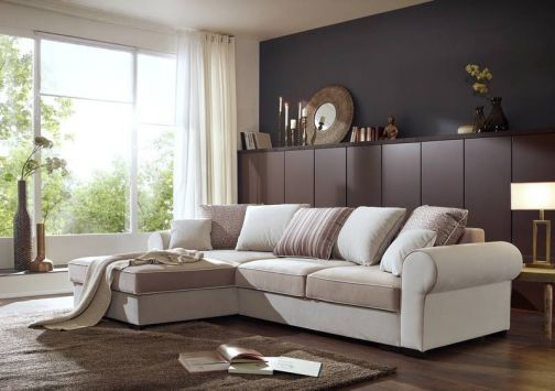 Ecksofa Deluxe Comfort Mit Schlaffunktion Und Bettkasten Sofa Design Ecksofas Sofa
