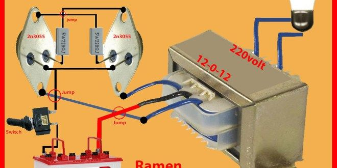 How To Make Inverter 12v To 220v Step By Step