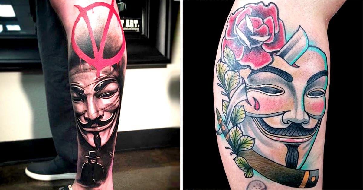 12 Revolutionary V For Vendetta Tattoos V For Vendetta Tattoo Vendetta Tattoo Star Tattoos