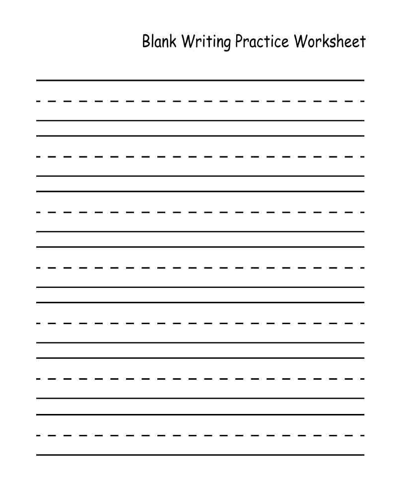 Blank Kindergarten Handwriting Worksheets With Images Writing