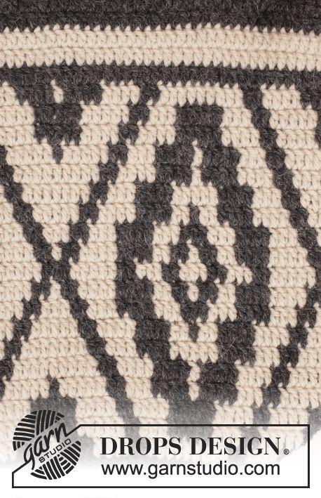 Santa Fe / DROPS 173-1 - Crochet DROPS bag with color pattern in ...