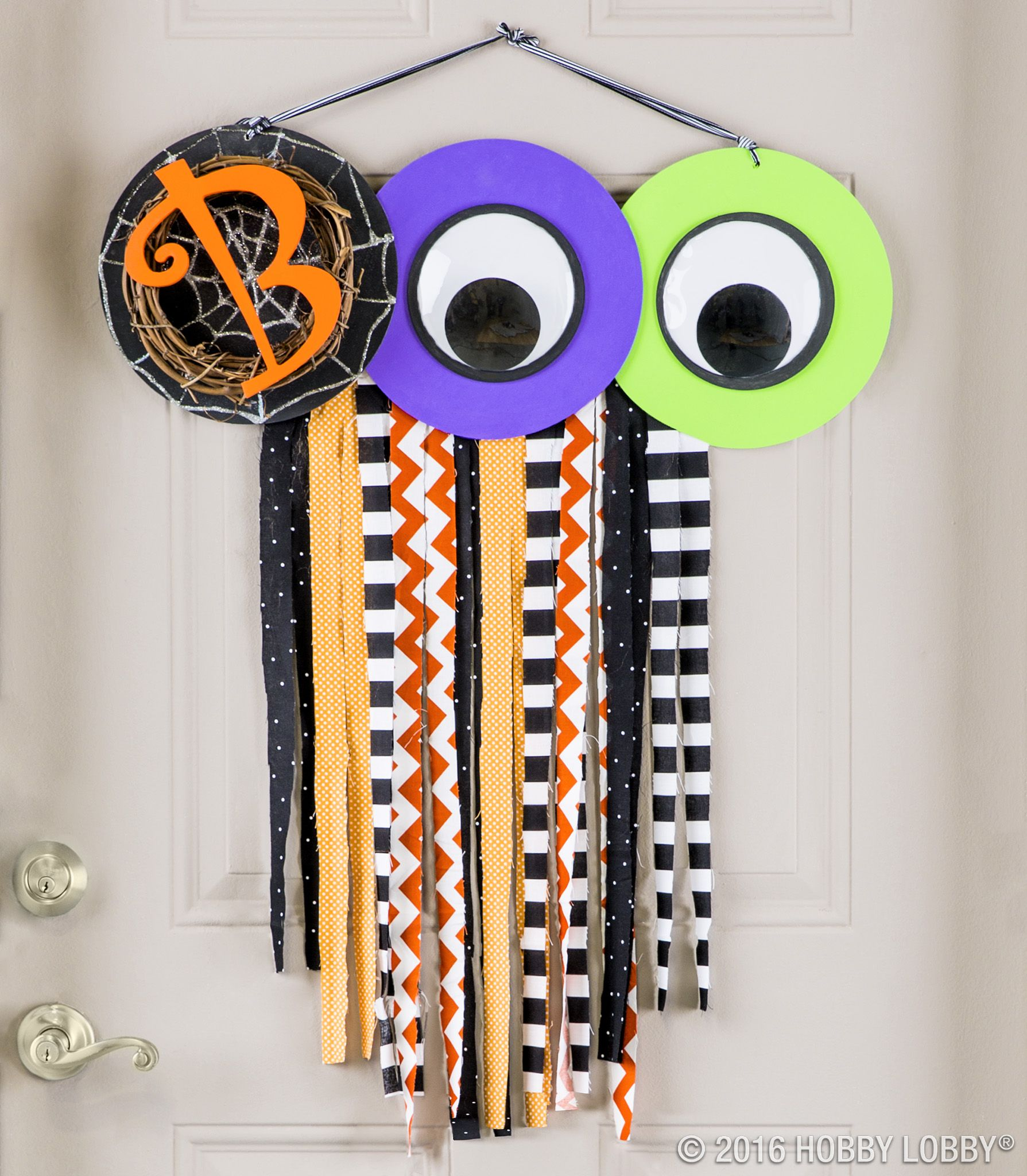 Give your door a spooky update for Halloween using everyday craft - Hobby Lobby Halloween Decorations