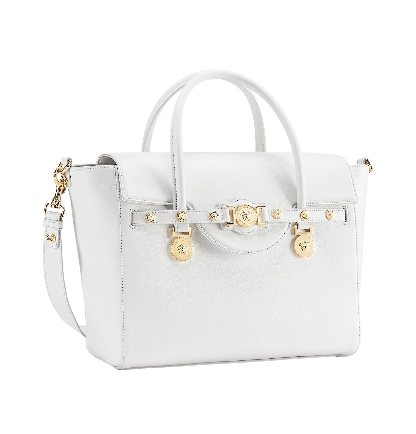 A Large White Versace Signature Bag Versacesignaturebag