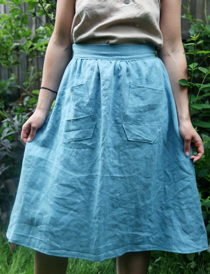 simple a line skirt tutorial sewing