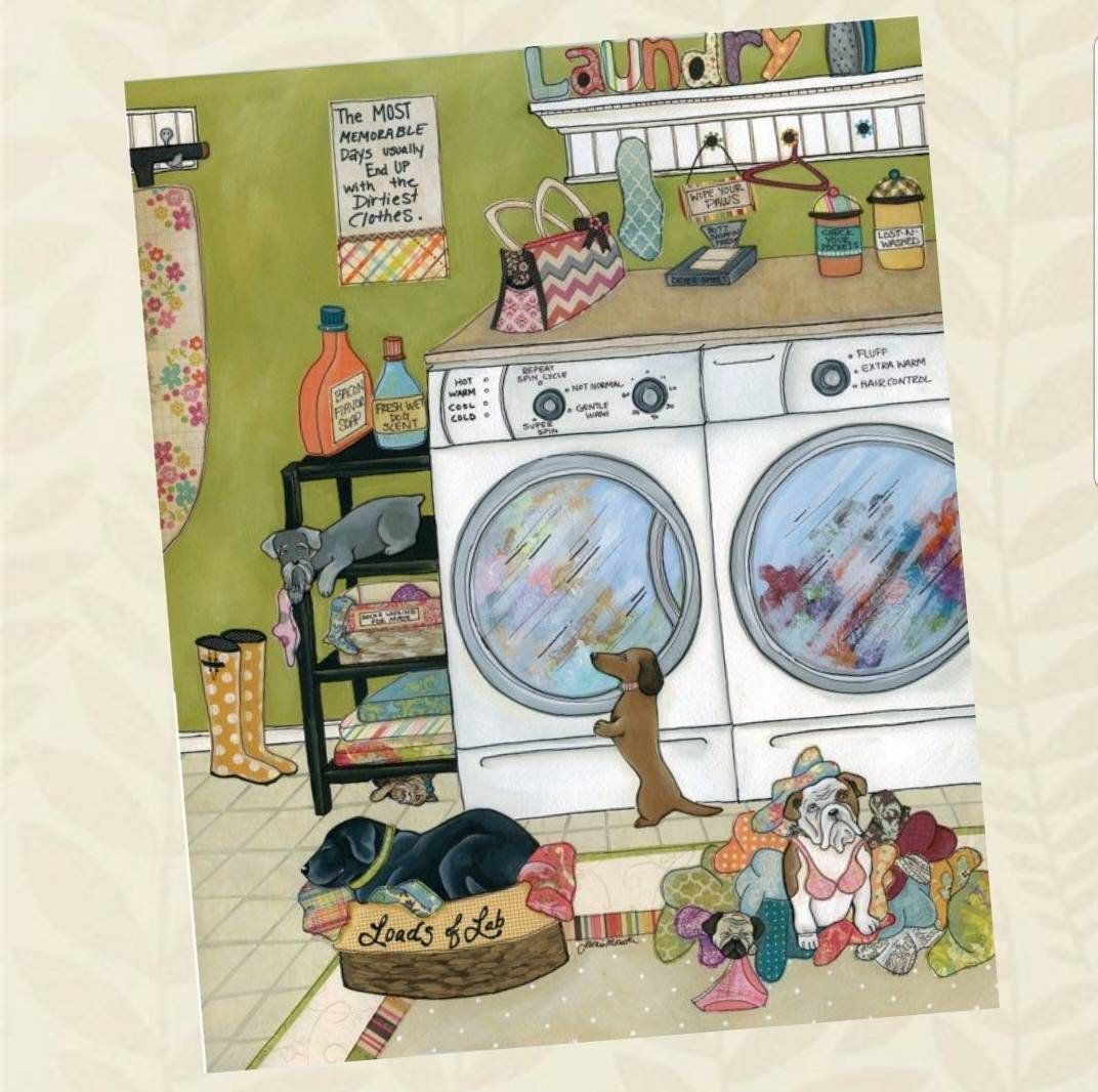 Most Memorable Days Dog Laundry Room Art Print Ornaments Available Washer Dryer Laundry Sign Dirti With Images How To Memorize Things Bulldog Artwork Laundry Room Art
