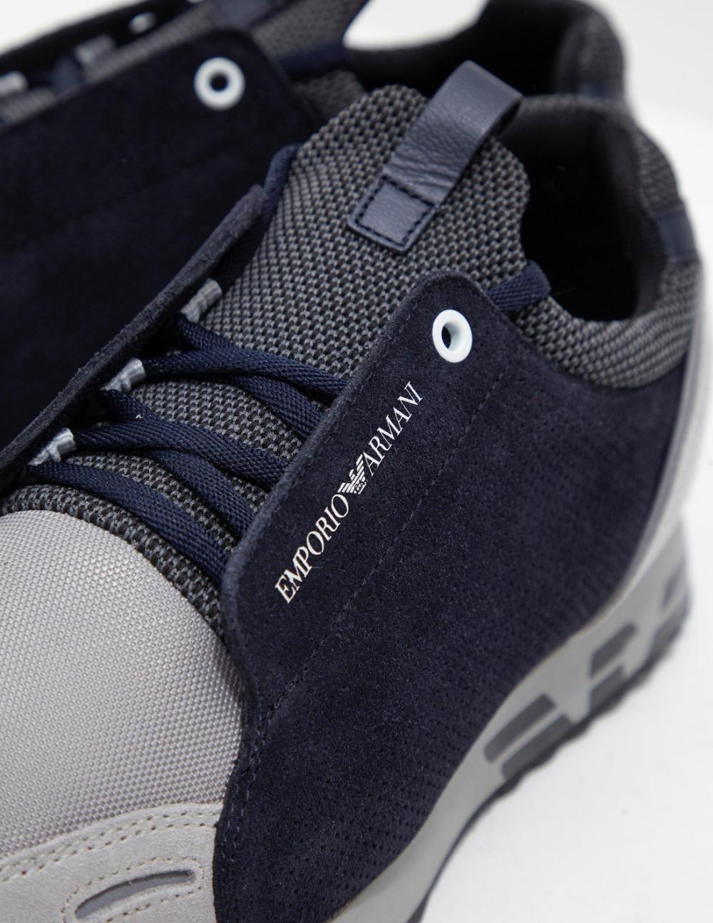 Emporio Armani Gray Arco Grey For Men Armani Shoes Mens Armani Grey Armani