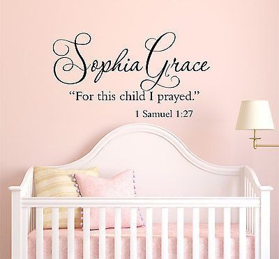 For this child i prayed 1 samuel 127 custom name quote vinyl wall decal sticker wall decal sticker wall decals and child