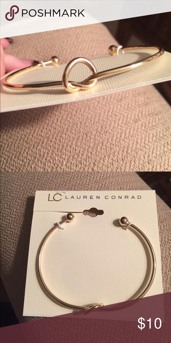 LC gold plated bracelet NWT Lauren Conrad knot bracelet ...