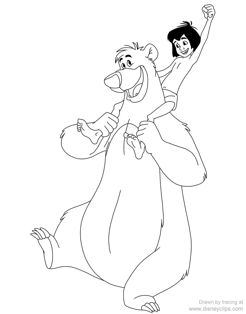 Baloo and Mowgli #baloo, #mowgli, #junglebook  Libro de colores