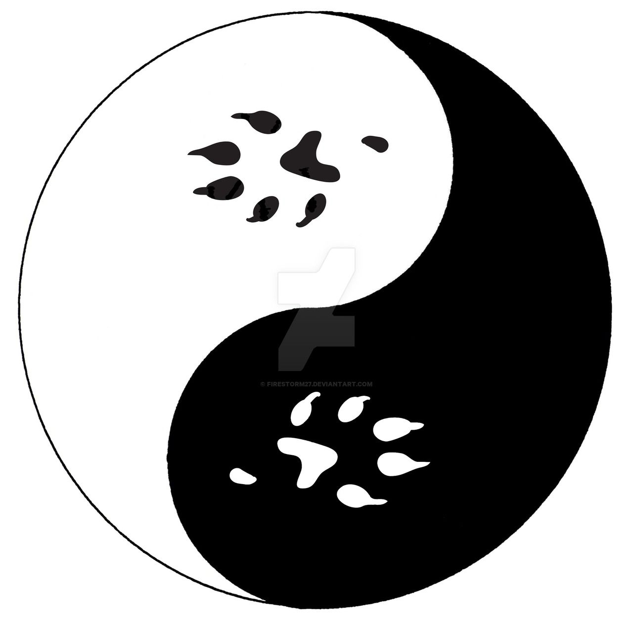 paw_print_yang_by_firestorm27-d62r2fn.jpg (1280×1255)   tattoo ...