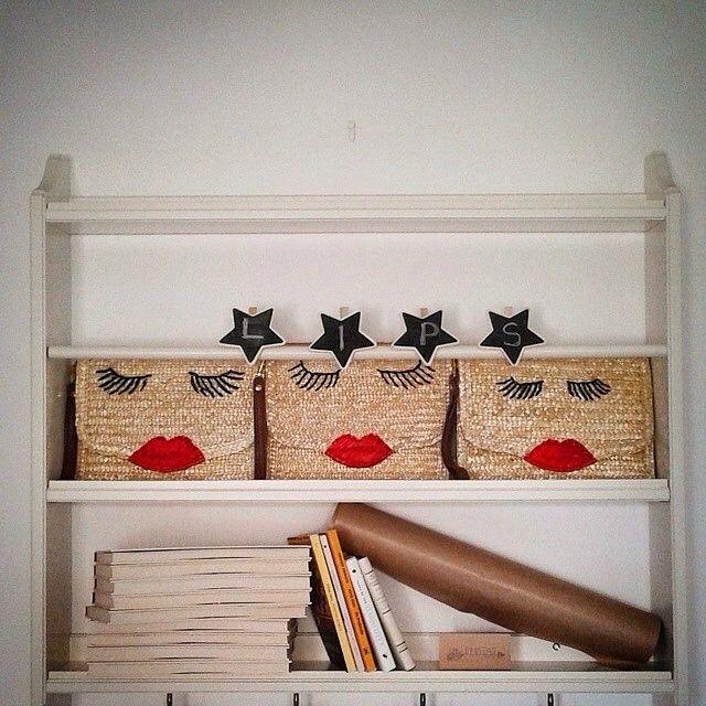 Kiss my new bag! #handmade #lips #piniatas #summer #let_the_games_begin #straw_bag