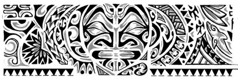 Maori 298 Disegno Sfumature Jpg 822 275 Desenhos De Tatuagem
