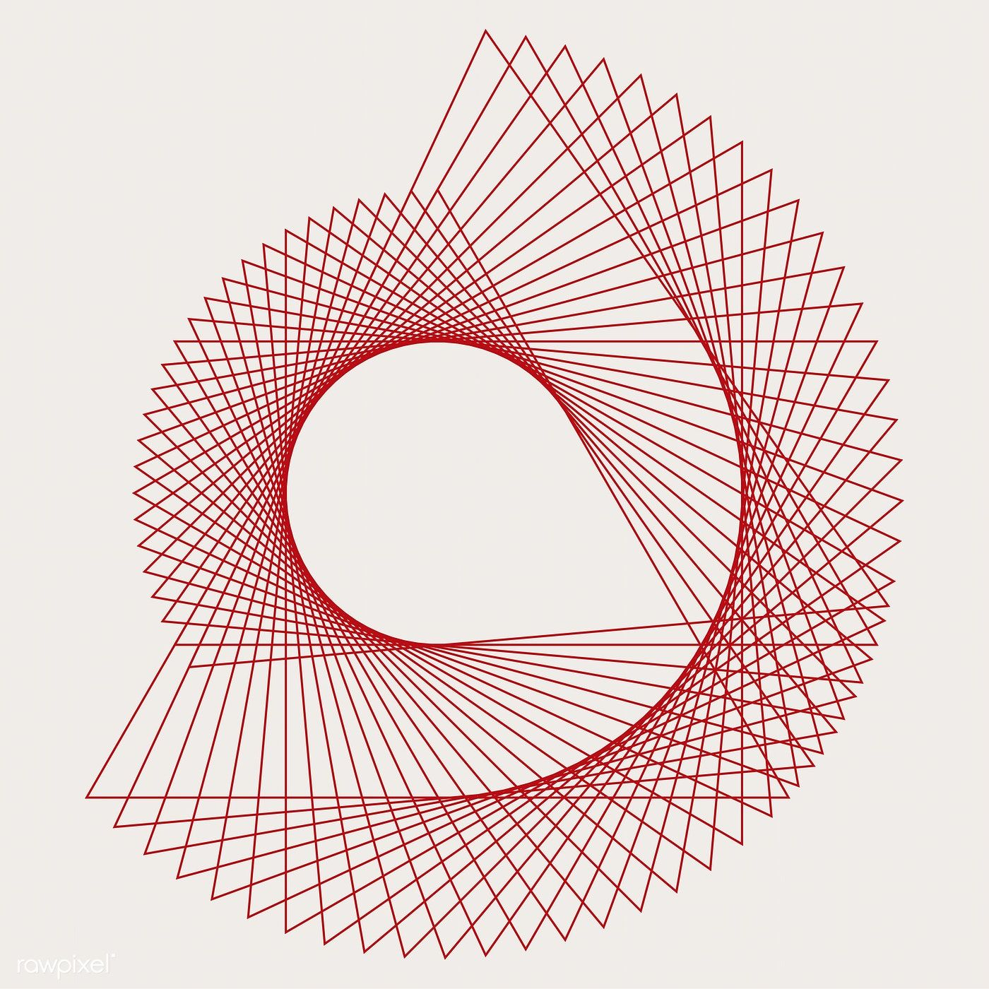 Abstract circular geometric element vector free image by