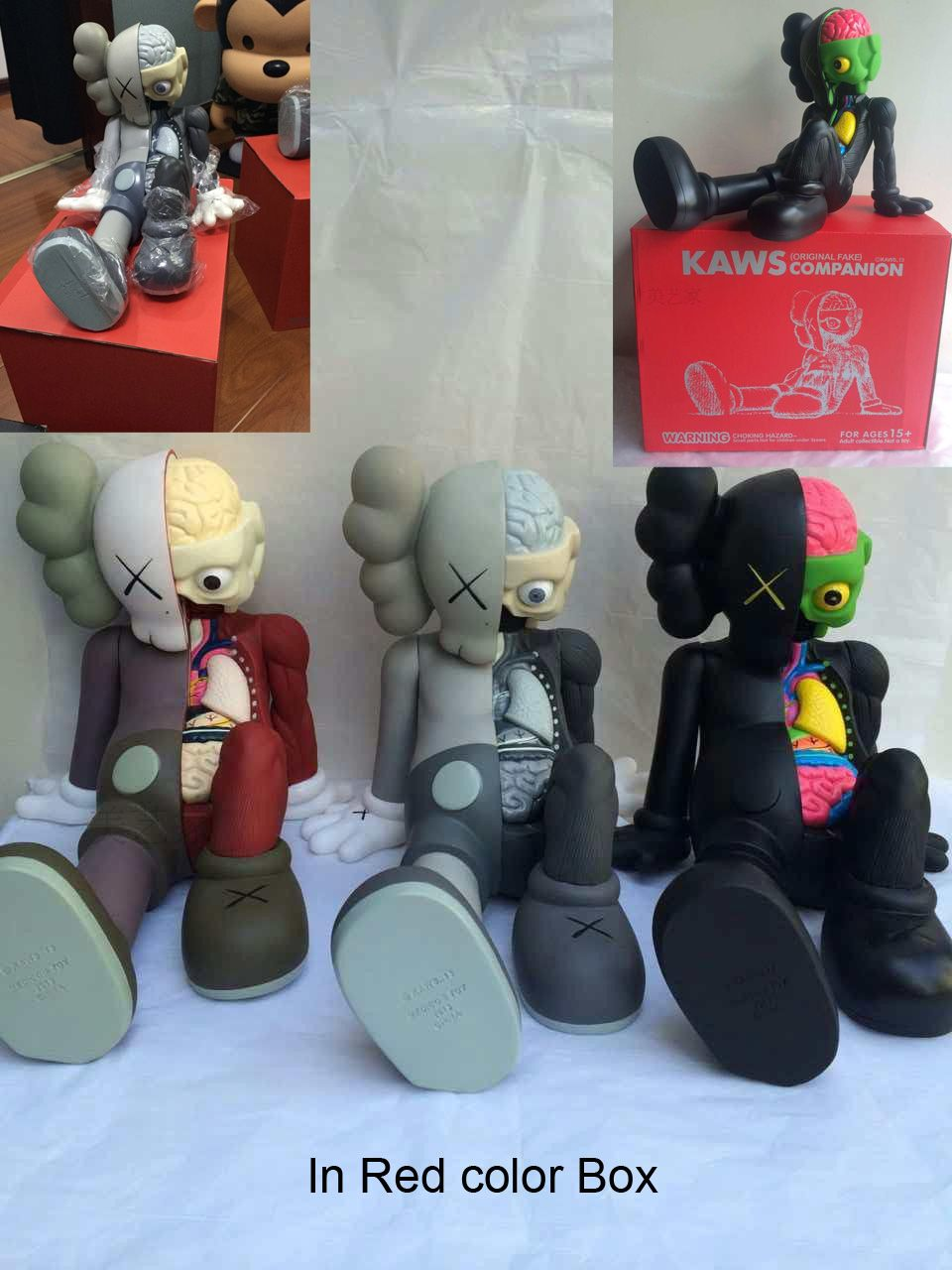 Kaws Original Fake Black Companion Figure IN Retail Box U.K