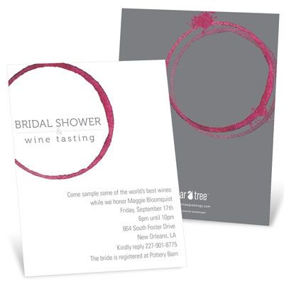 Bridal Shower Invitation Ideas: Drink-infused shower idea #bridalshower #wedding #peartreegreetings