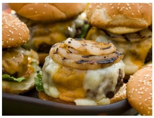 Bobby Flay Double Cheddar Burger